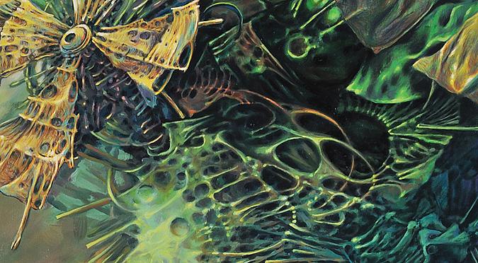 """Obraz """"Przeprawa"""" otwierający galerię malarstwa Bogumiła Hodera"""